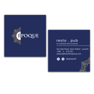 epoque business card design
