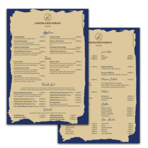 epoque menu design